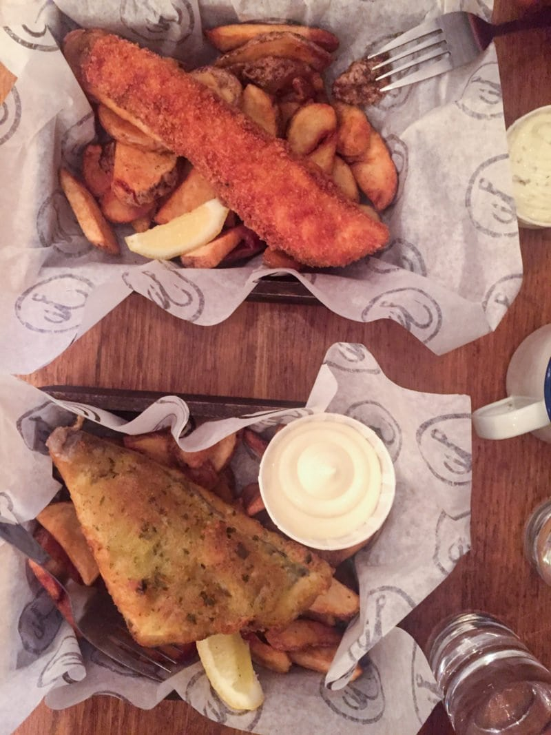 Seafood dinner at Bia Mara in Brussels, Belgium