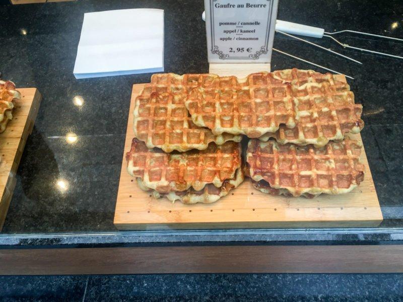 Belgian waffles in Brussels, Belgium
