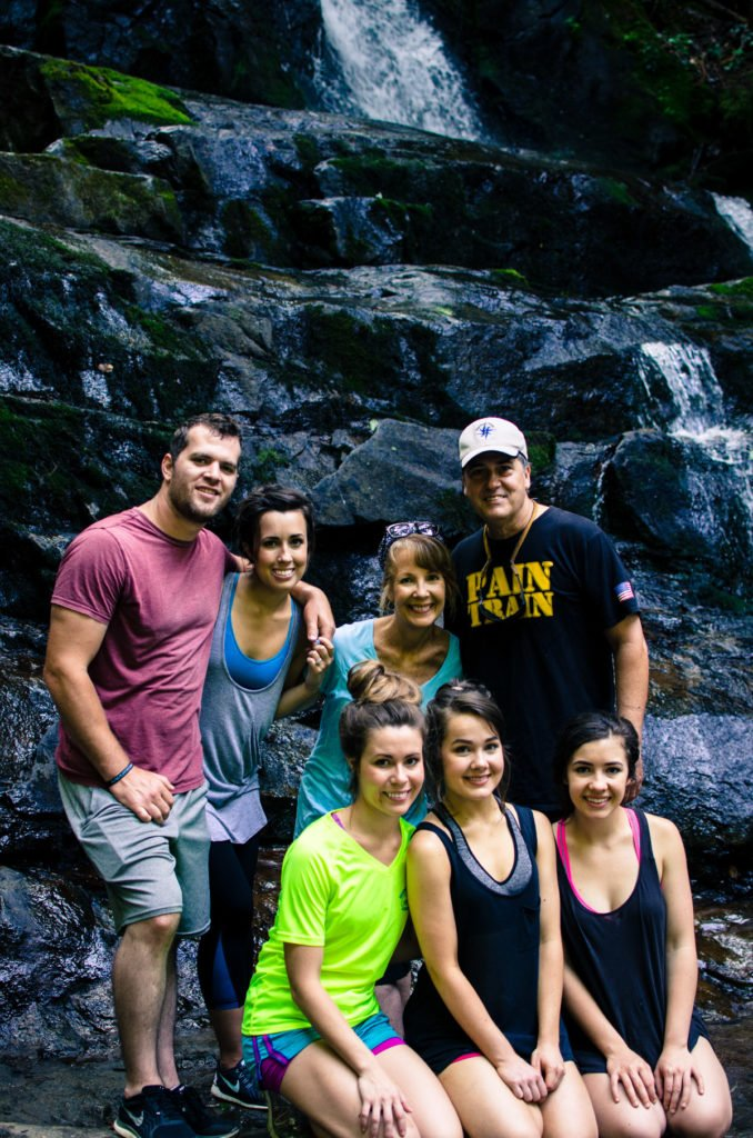 Hiking the Laurel Falls trail that is part of the Great Smoky Mountain National Park