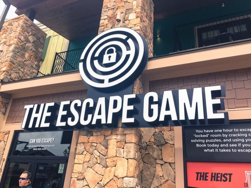 Getting ready to do the Prison Break course of the Escape Game in Pigeon Forge, TN