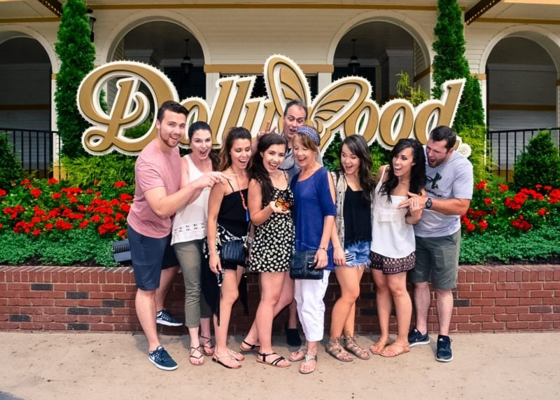 A family day at Dollywood in Pigeon Forge, TN