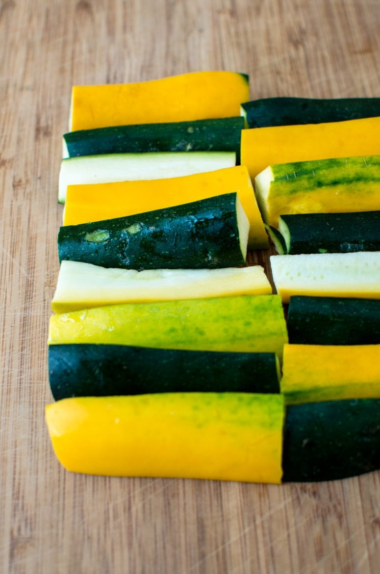 This recipe for Greek-Style Roasted Zucchini with Feta is a simple side dish that highlights summer produce and fresh herbs!