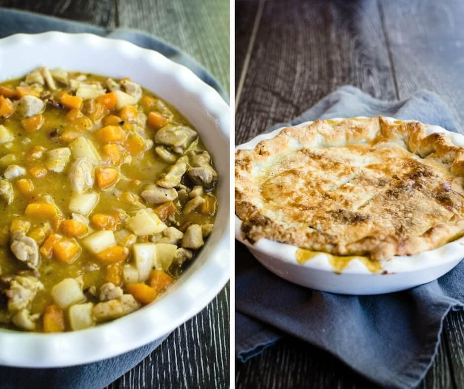 This recipe for chicken and root vegetable pot pie is the ultimate in fall comfort food. Make two and freeze one for later!