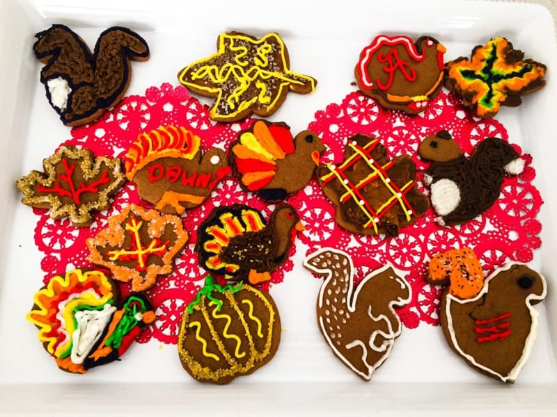 Thanksgiving gingerbread cookies