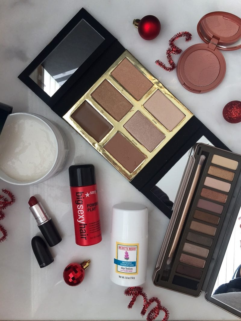 A chic roundup of my recent beauty haul selected just for the holidays! Makeup favorites - Tarte, Urban Decay, Mac and more!