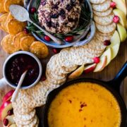 This recipe and tutorial for a DIY pimento cheese board that makes for a festive holiday spread - it's also perfect for any party! Entertaining inspiration.