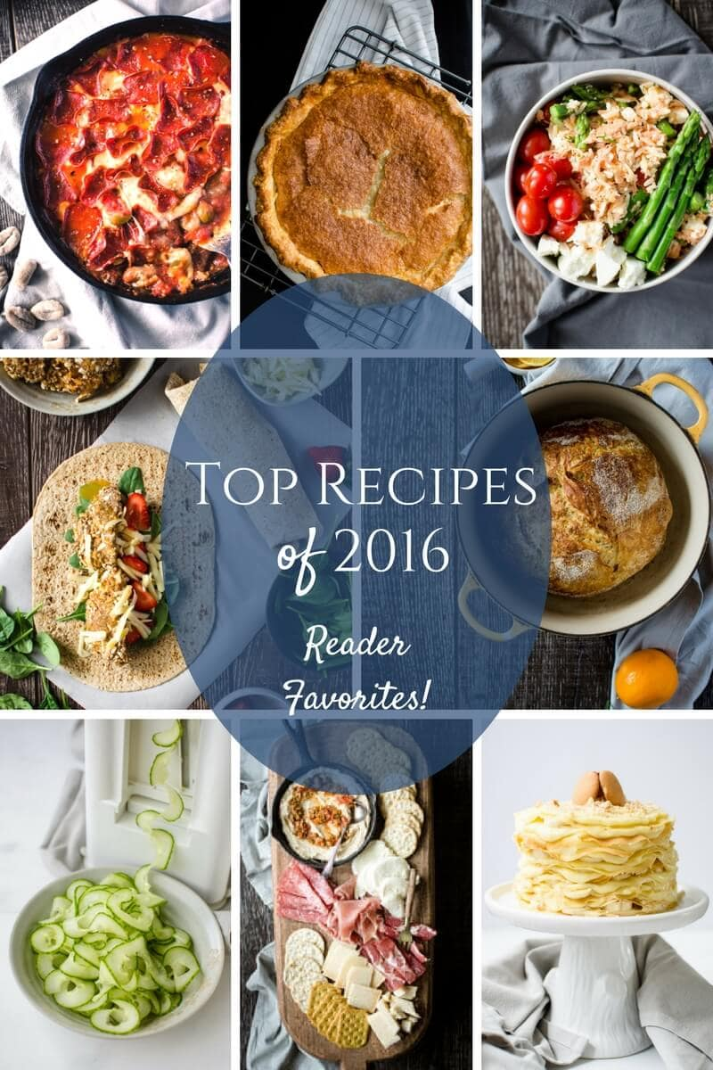 The most popular recipes from the blog in 2016 are featured in this round up.