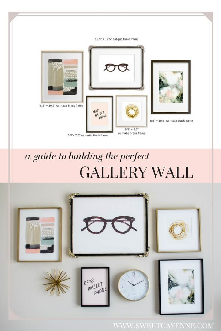 See how I used an art gallery wall to inspire my home office decor with this DIY tutorial on creating a gallery wall with Minted Art.