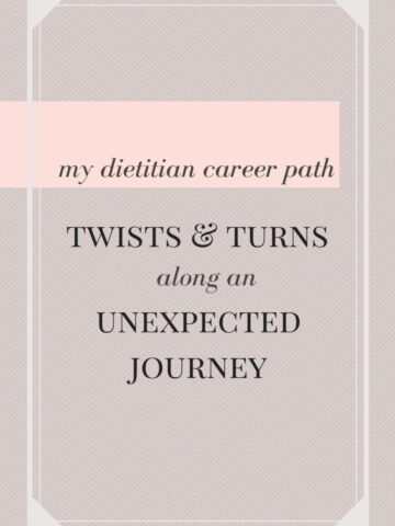 This post is about my journey along the dietitian career path I started + lessons learned along the way about doing what you love.