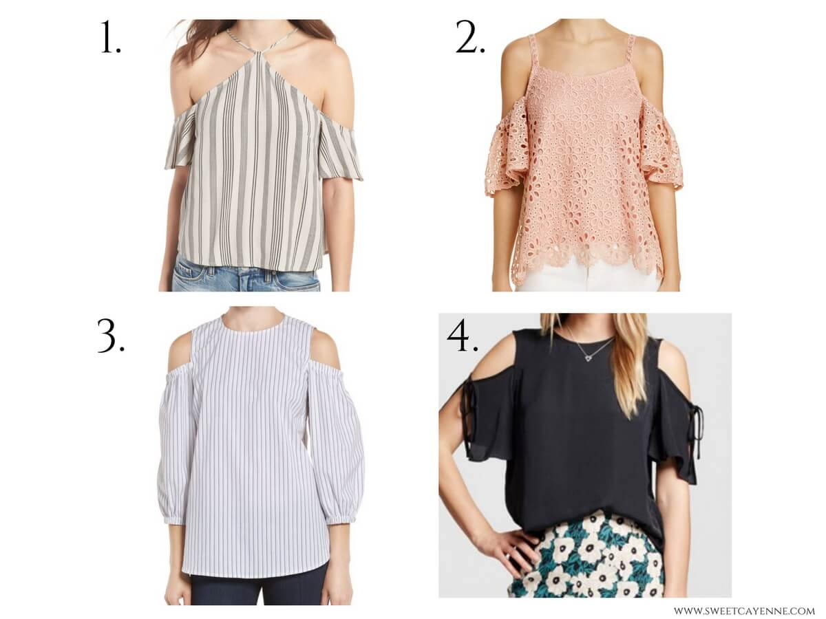 The ultimate guide to trendy 2017 tops - 12 options and all under $50! Spring fashion shopping guide.