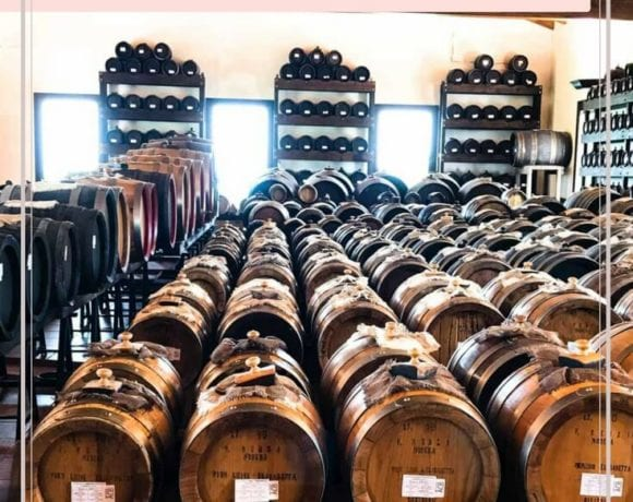 A picture of aging balsamic vinegar in barrels in Italy.