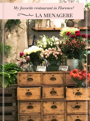 A guide to my favorite restaurant in Florence, Italy. Le Menagere is whimsical, fun, and elegant - the perfect place to go for an enchanted evening out!
