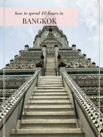 This 48 hour guide to Bangkok tells you where to stay, what to do, what to see, and where to eat for a relaxing 2 days of travel in this buzzing city.