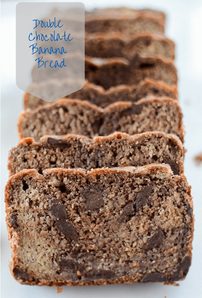 Double Chocolate Banana Bread Recipe - healthy and lightened up!