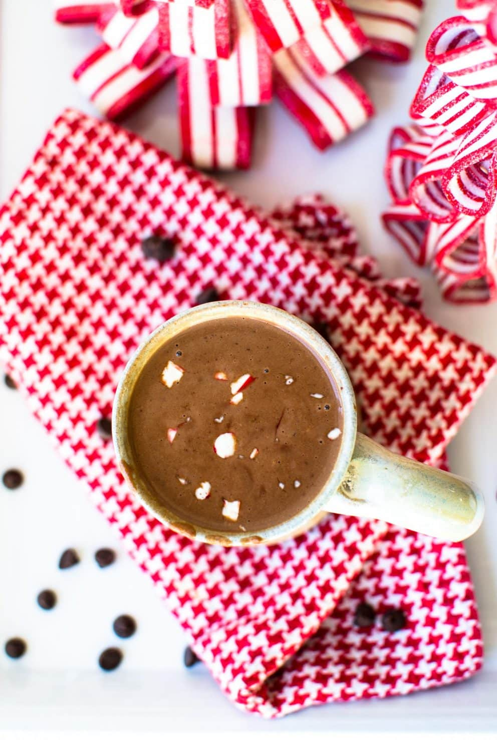 """A rich and luxurious dairy free hot chocolate made in a slow cooker! It is so rich you will call it """"sipping chocolate!"""""""