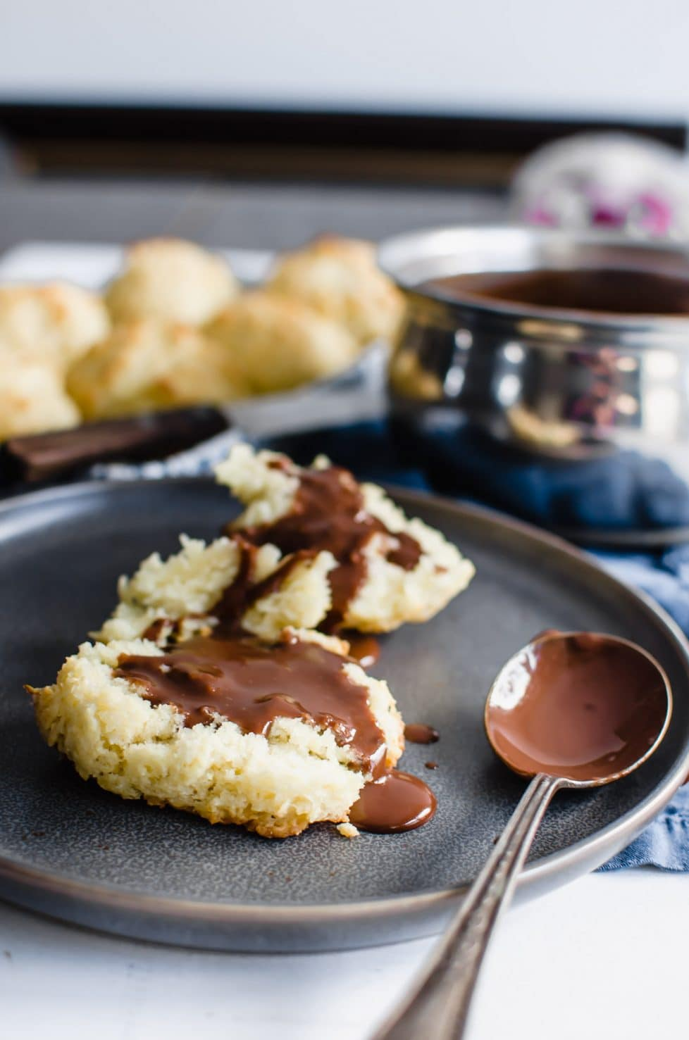 This recipe for Smooth and Silky Chocolate Gravy with Buttermilk Drop Biscuits is an old-fashioned, Southern breakfast dish that is perfect to serve for Valentine's Day or on a cozy winter morning!
