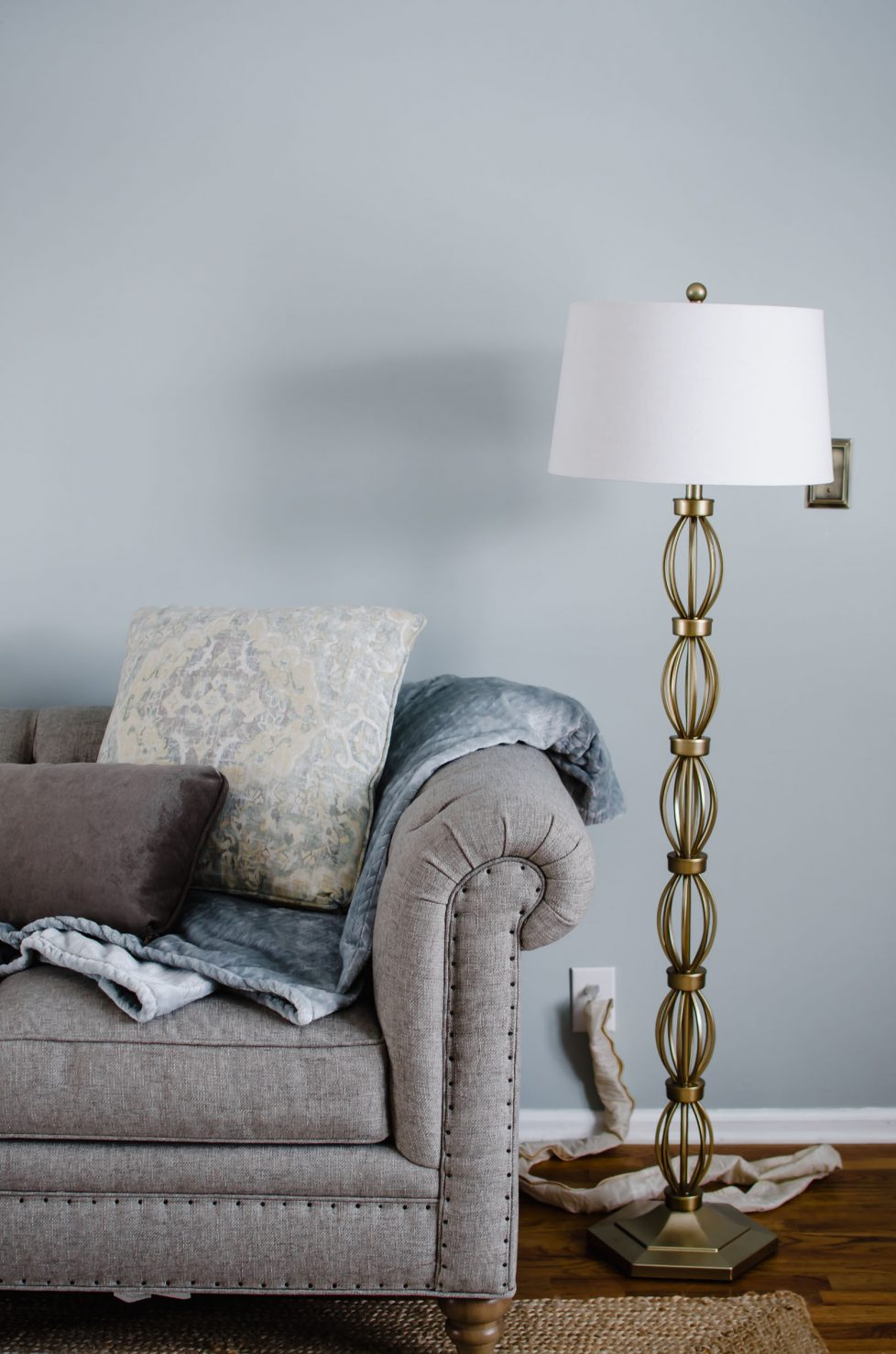This home decor tutorial gives inspiration on how to incorporate Pinterest's 2018 color of the year, Sage Green, into your home interior design plans. Get ideas for accessories, furniture, accents, and paint colors in Sage Green!