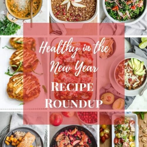 A Pinterest collage of healthy recipe photos.