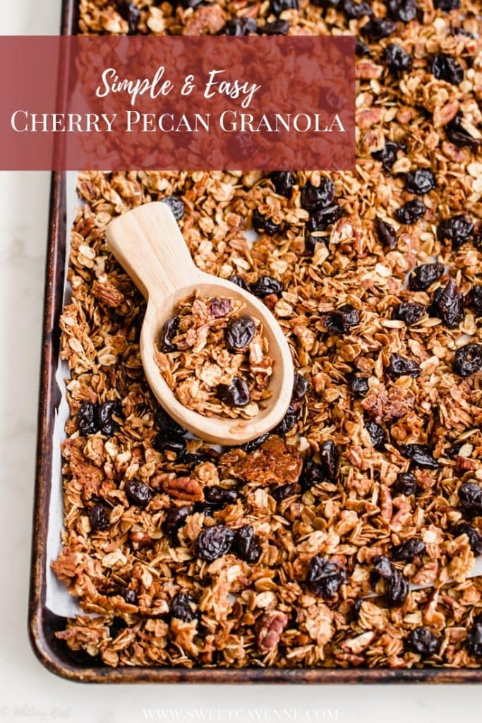 A baking sheet covered in granola.