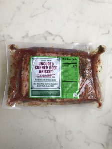 Corned beef brisket from Trader Joe's