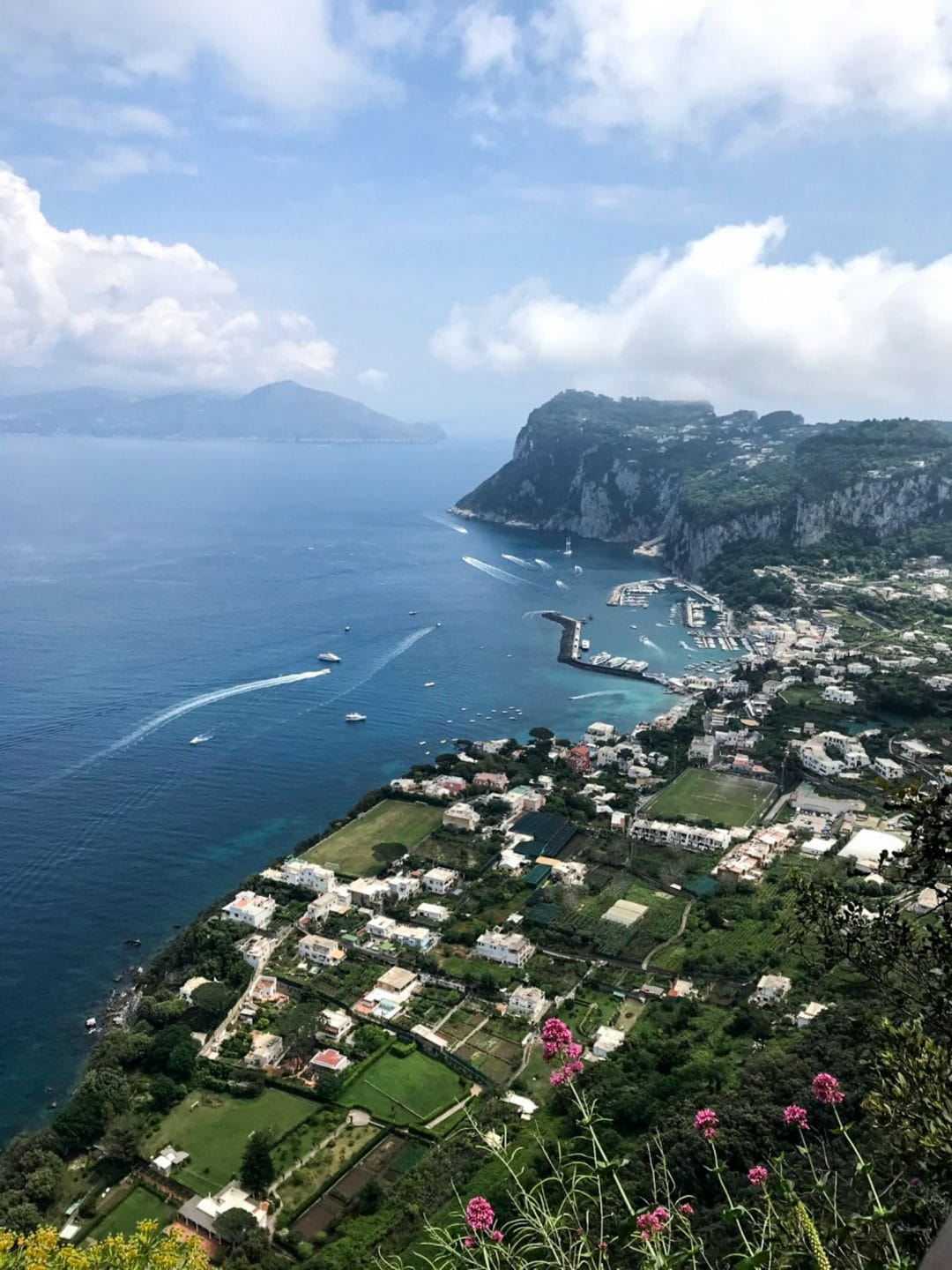 A sky-high view of Capri.