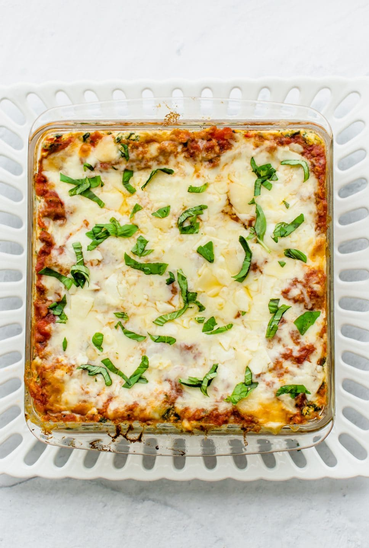 Turkey Florentine Lasagna